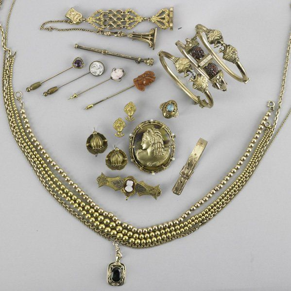COLLECTION OF GOLD-FILLED AND SILVER JEWELRY