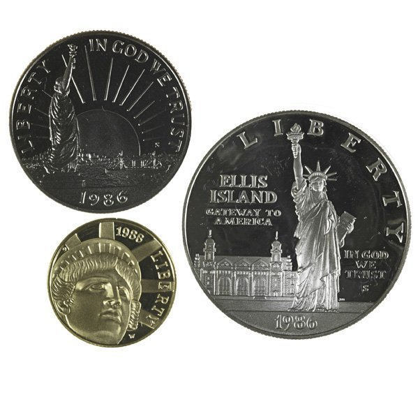1011: 1986 LIBERTY GOLD COMMEMORATIVE SET