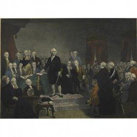 19TH C. AMERICAN ENGRAVING OF GEORGE WASHINGTON