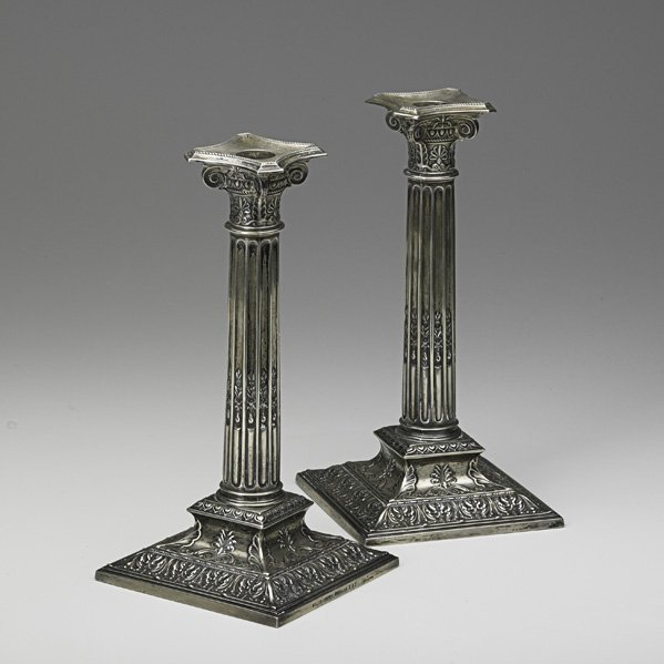 1277: PAIR OF STERLING CANDLESTICKS