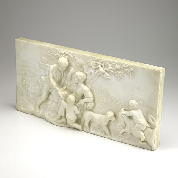 1360: CARVED MARBLE PANEL