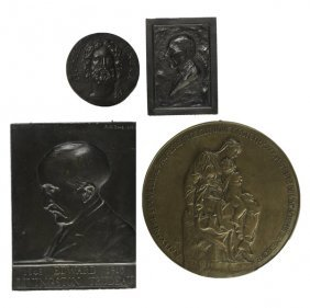 Bronze Plaques & Medallions Of Doctors