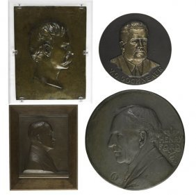 Bronze Plaques & Medallions Of Inventors And