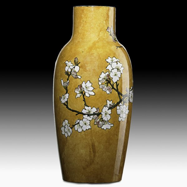 12: JOHN BENNETT Tall vase with apple blossoms