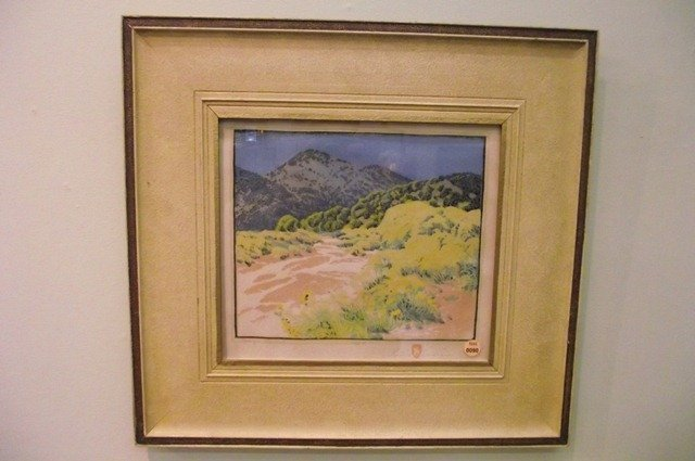 "90: GUSTAVE BAUMANN Woodblock print ""Arroyo Chamisa"" - 2"