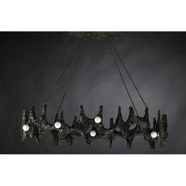 506: PAUL EVANS Sculptured Metal chandelier