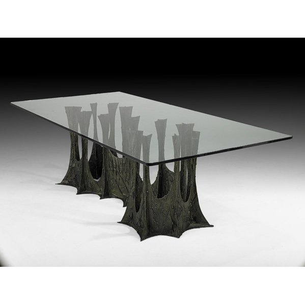 508: PAUL EVANS Sculptured Metal dining table