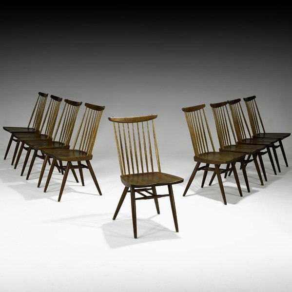 522: GEORGE NAKASHIMA Nine New sidechairs