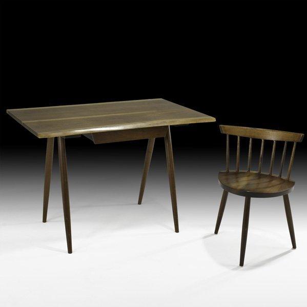 529: GEORGE NAKASHIMA Desk and chair