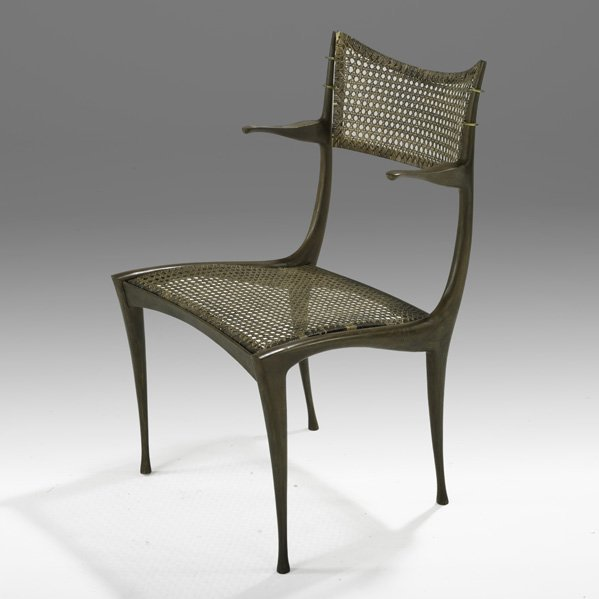 535: DAN JOHNSON Bronze Gazelle chair
