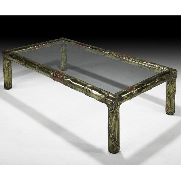 538: SILAS SEANDEL Bronze coffee table