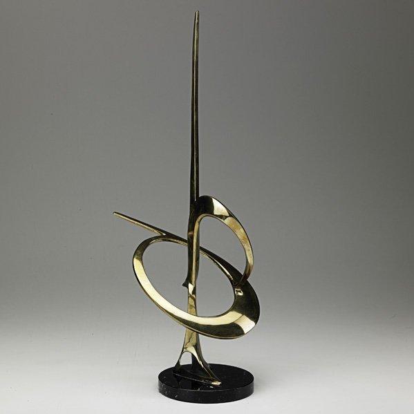 541: BOB BENNETT Brass and marble sculpture