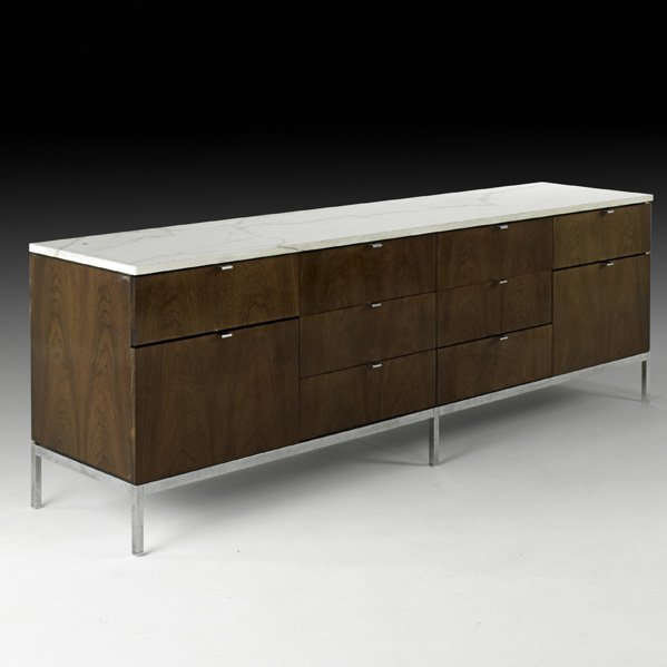 563: FLORENCE KNOLL Ten-drawer cabinet