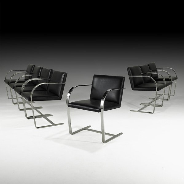 568: MIES VAN DER ROHE Eight Brno chairs