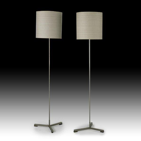 607: DANISH Pair of torchere lamps