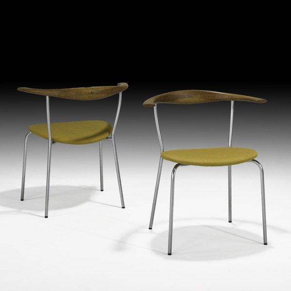 614: HANS WEGNER Pair of armchairs