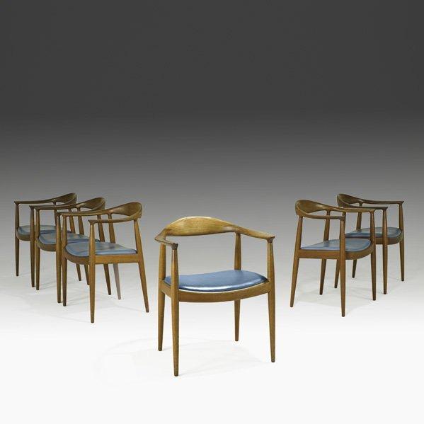 617: HANS WEGNER Set of six The Chair
