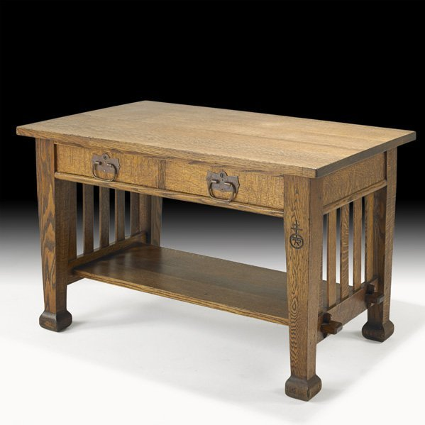 2: ROYCROFT Two-drawer library table