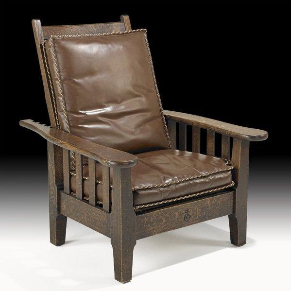 10: ROYCROFT Slatted Morris chair