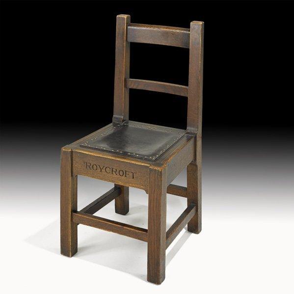 15: ROYCROFT Rare and early desk chair
