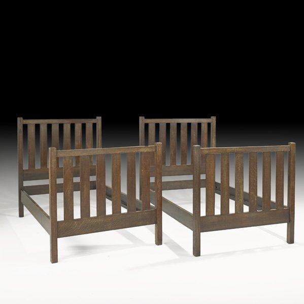 17: ROYCROFT Pair of twin beds