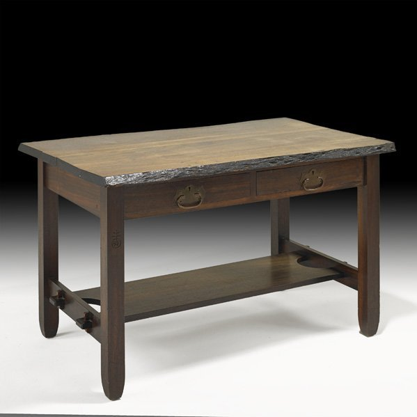 22: ROYCROFT Rare black walnut library table
