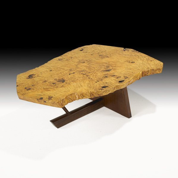 1000: GEORGE NAKASHIMA Fine burl coffee table