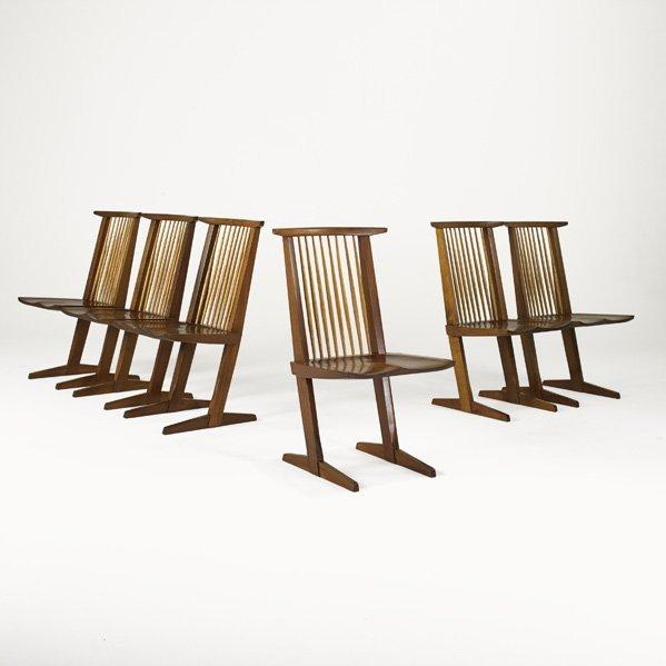 1002: GEORGE NAKASHIMA Six Conoid chairs