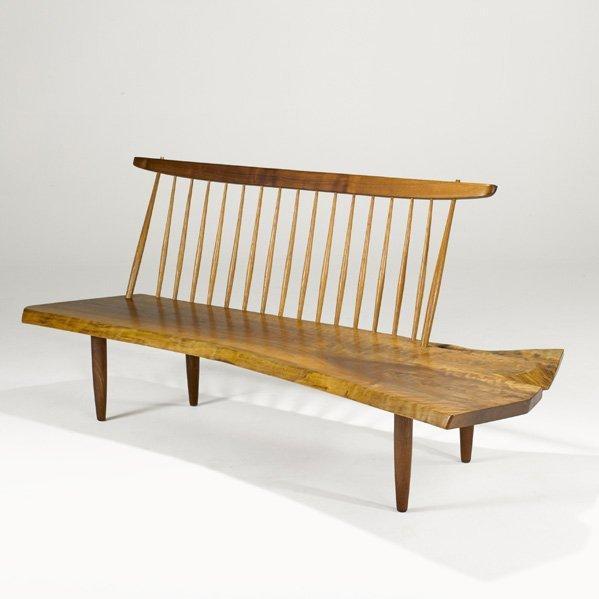 1004: GEORGE NAKASHIMA Conoid bench
