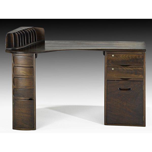 1039: WHARTON ESHERICK Custom double pedestal desk