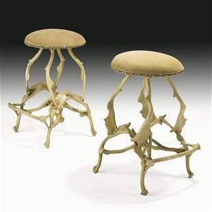1072: ARTHUR COURT Pair of bar stools