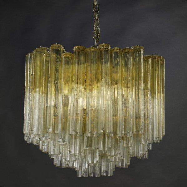 VENINI Hollow drop glass eight tier chandelier
