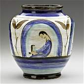 1475: MAIJA GROTELL Vase with potter at wheel