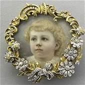 1035: FRANK WALTER LAWRENCE PORTRAIT JEWEL, ca. 1895
