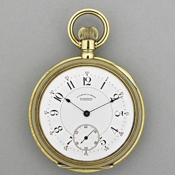 1160: A. LANGE & SOHNE 18K GOLD POCKET WATCH, ca. 1880