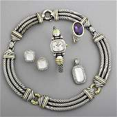 DAVID YURMAN AND JOHN HARDY SILVER JEWELRY