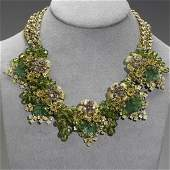 1437 MIRIAM HASKELL LEAF AND BLOSSOM NECKLACE