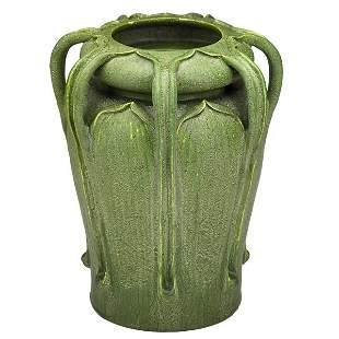 G. KENDRICK; GRUEBY Seven-handled vase