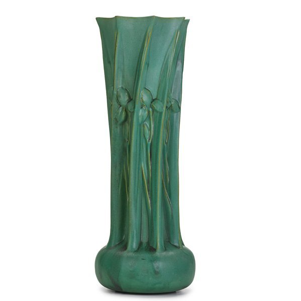 FRITZ ALBERT; TECO Exceptional and massive vase