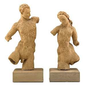 WAYLANDE GREGORY Pair of figural sculptures