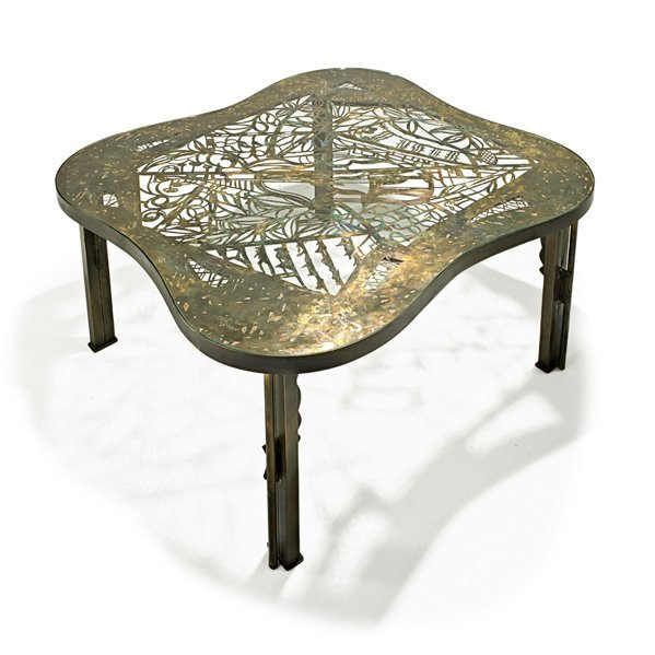 PHILIP AND KELVIN LAVERNE Rare Viola coffee table