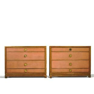 TOMMI PARZINGER Pair of four-drawer dressers