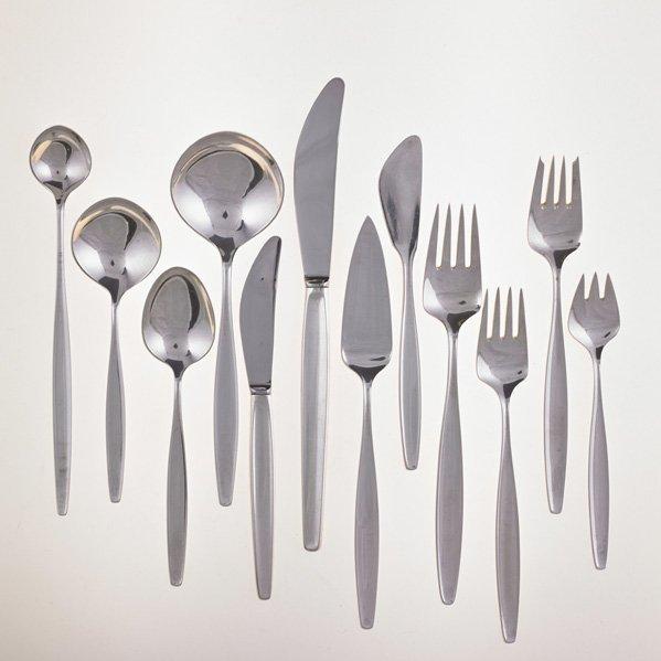 K. G. HANSEN; HANS HANSEN Sterling flatware set