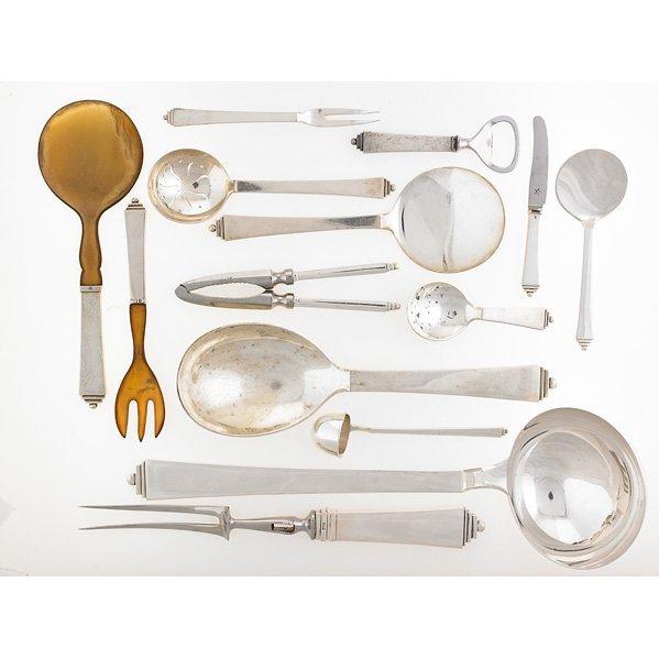 GEORG JENSEN Assembled sterling flatware set - 4