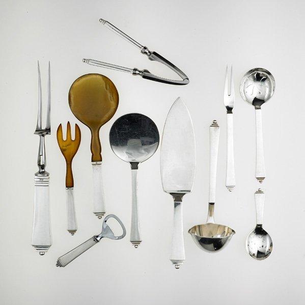 GEORG JENSEN Assembled sterling flatware set - 5