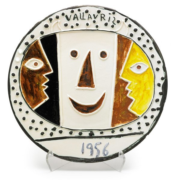 PABLO PICASSO; MADOURA Large charger