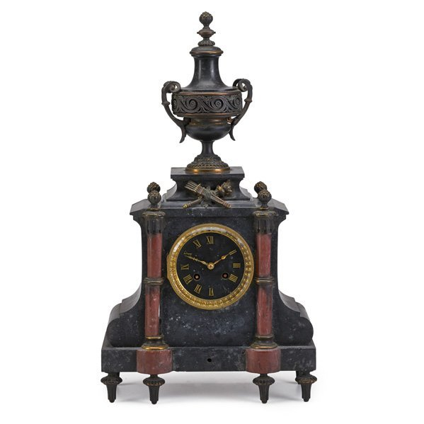 TIFFANY & CO. MARBLE MANTLE CLOCK