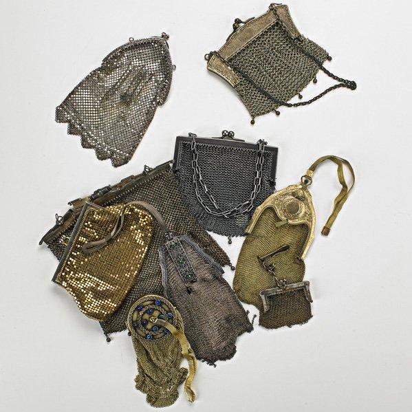 NINE MESH HANDBAGS, 1895-1960