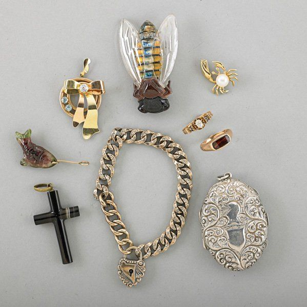 ECLECTIC JEWELRY COLLECTION, 19th-20th C.