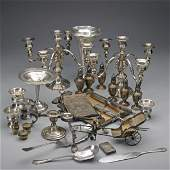 SILVER AND SILVER PLATE BOX LOT